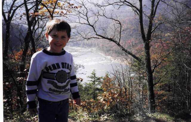 Luke on Skyline Drive
